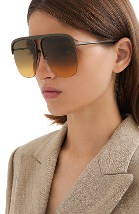 Женские солнцезащитные очки GIVENCHY коричневого цвета, арт. 7173 3Y5   Фото 2
