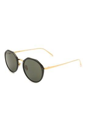 Женские солнцезащитные очки LINDA FARROW черного цвета, арт. LFL1052C1 SUN   Фото 1