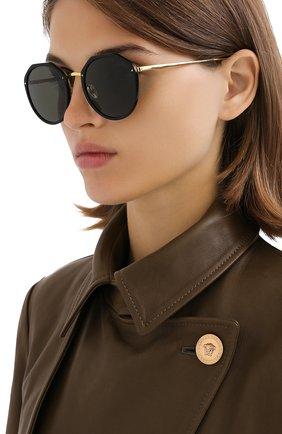 Женские солнцезащитные очки LINDA FARROW черного цвета, арт. LFL1052C1 SUN   Фото 2