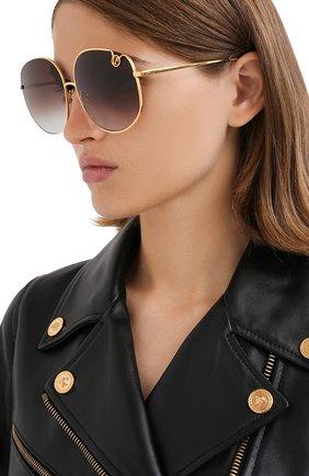 Женские солнцезащитные очки LINDA FARROW золотого цвета, арт. LFL1056C1 SUN   Фото 2