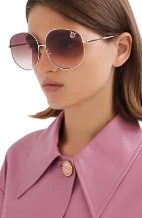 Женские солнцезащитные очки LINDA FARROW сиреневого цвета, арт. LFL1056C3 SUN   Фото 2