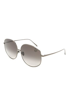 Женские солнцезащитные очки LINDA FARROW серого цвета, арт. LFL1056C5 SUN   Фото 1