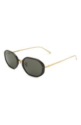 Женские солнцезащитные очки LINDA FARROW черного цвета, арт. LFL1084C1 SUN   Фото 1