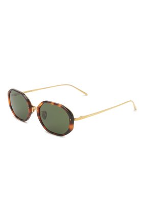Женские солнцезащитные очки LINDA FARROW коричневого цвета, арт. LFL1084C2 SUN | Фото 1