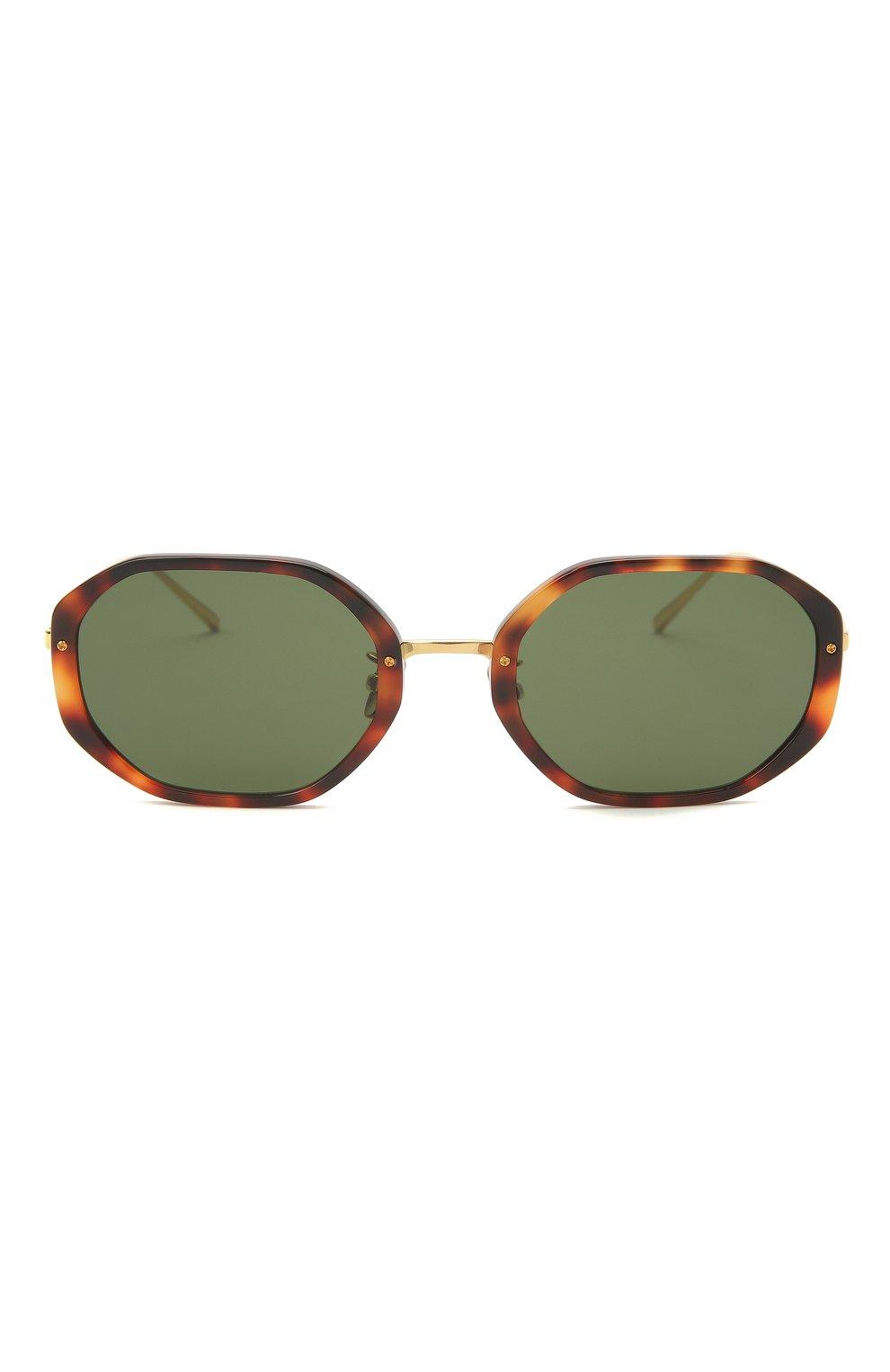Женские солнцезащитные очки LINDA FARROW коричневого цвета, арт. LFL1084C2 SUN | Фото 3