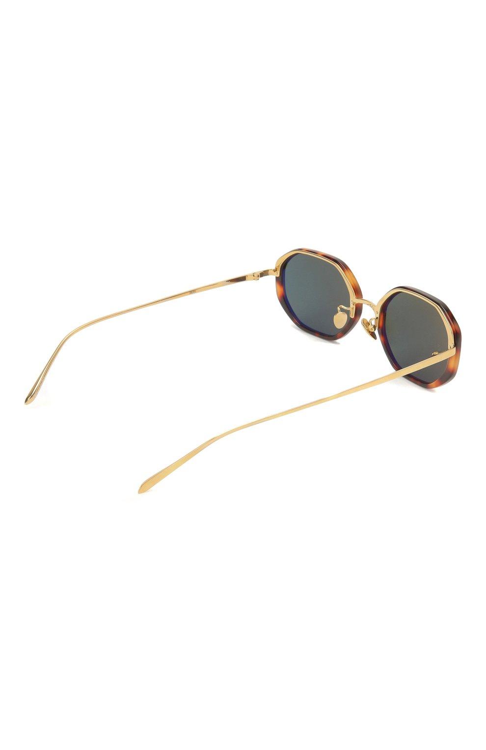Женские солнцезащитные очки LINDA FARROW коричневого цвета, арт. LFL1084C2 SUN | Фото 4
