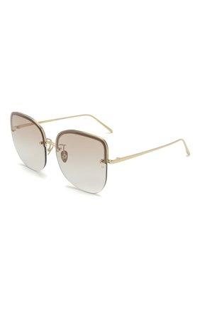 Женские солнцезащитные очки LINDA FARROW золотого цвета, арт. LFL1099C4 SUN   Фото 1