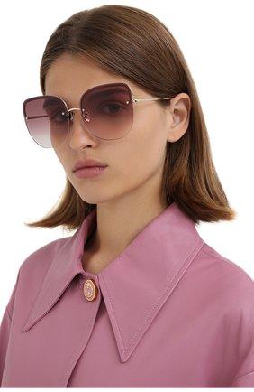 Женские солнцезащитные очки LINDA FARROW золотого цвета, арт. LFL1099C5 SUN   Фото 2