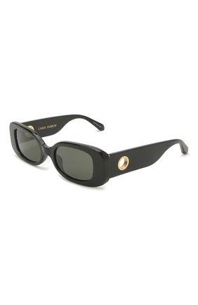 Женские солнцезащитные очки LINDA FARROW черного цвета, арт. LFL1117C1 SUN   Фото 1
