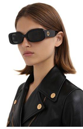Женские солнцезащитные очки LINDA FARROW черного цвета, арт. LFL1117C1 SUN   Фото 2