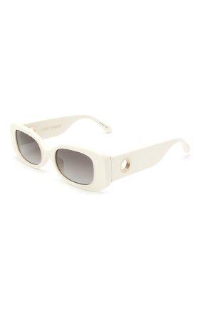 Женские солнцезащитные очки LINDA FARROW белого цвета, арт. LFL1117C3 SUN | Фото 1