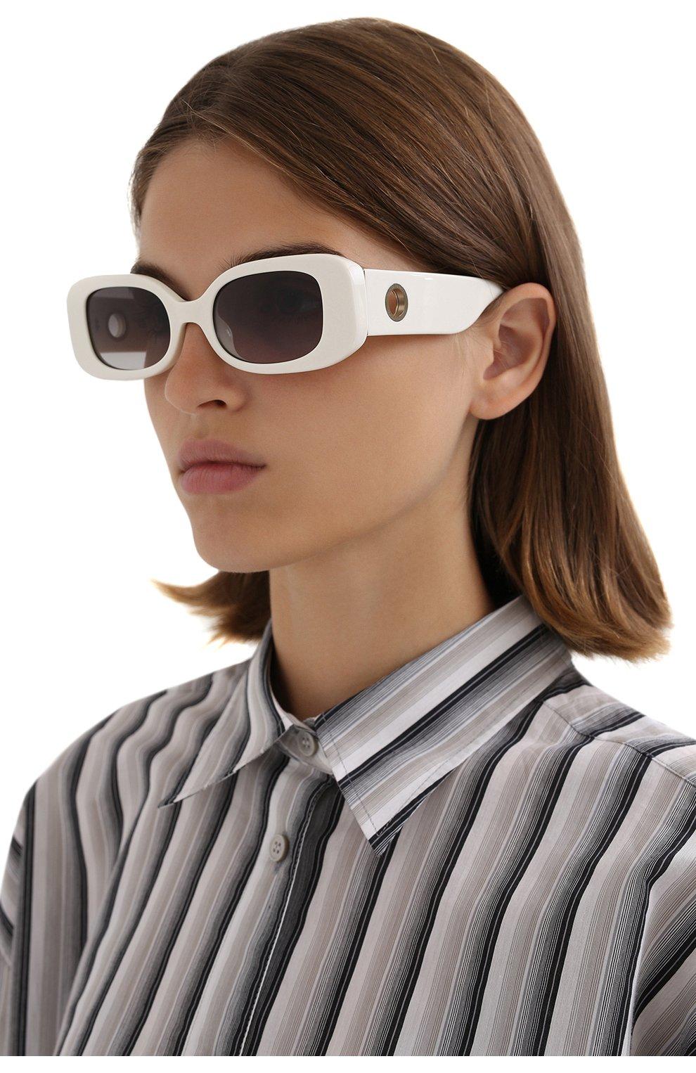 Женские солнцезащитные очки LINDA FARROW белого цвета, арт. LFL1117C3 SUN | Фото 2