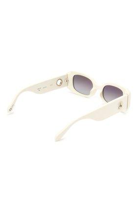 Женские солнцезащитные очки LINDA FARROW белого цвета, арт. LFL1117C3 SUN | Фото 4