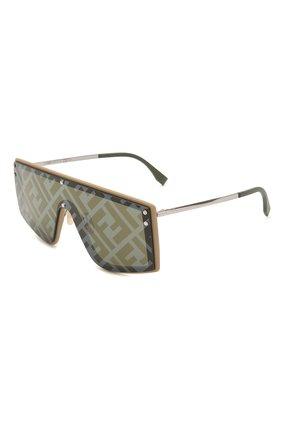 Женские солнцезащитные очки FENDI темно-серого цвета, арт. M0076/G 10A   Фото 1