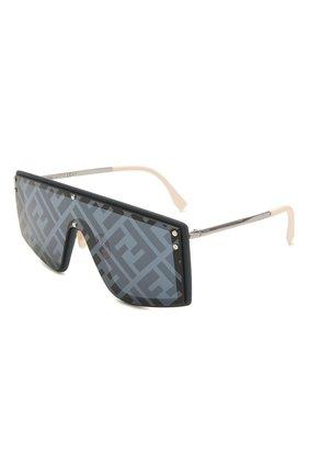 Женские солнцезащитные очки FENDI черного цвета, арт. M0076/G PJP   Фото 1