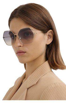 Женские солнцезащитные очки DIOR сиреневого цвета, арт. DI0RSTELLAIRE8 J5G FF | Фото 2
