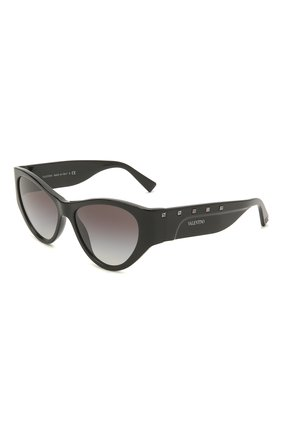 Женские солнцезащитные очки VALENTINO черного цвета, арт. 4071-50018G | Фото 1 (Тип очков: С/з; Оптика Гендер: оптика-женское; Очки форма: Cat-eye)