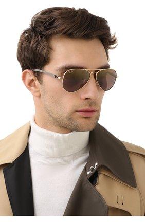 Мужские солнцезащитные очки RAY-BAN коричневого цвета, арт. 8317CH-001/6B | Фото 2