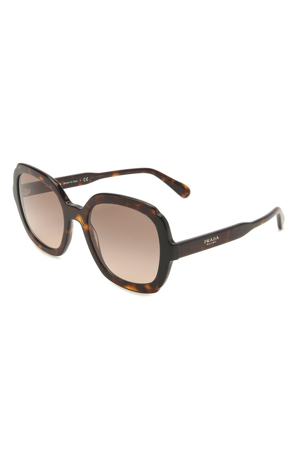 Женские солнцезащитные очки PRADA коричневого цвета, арт. 16US-3913D0   Фото 1