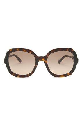 Женские солнцезащитные очки PRADA коричневого цвета, арт. 16US-3913D0   Фото 3