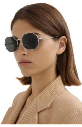 Женские солнцезащитные очки RAY-BAN серебряного цвета, арт. 1972-914931 | Фото 2
