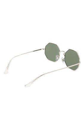 Женские солнцезащитные очки RAY-BAN серебряного цвета, арт. 1972-914931 | Фото 4