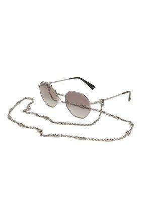 Женские солнцезащитные очки и цепочка VALENTINO серебряного цвета, арт. 2040-300511 | Фото 1