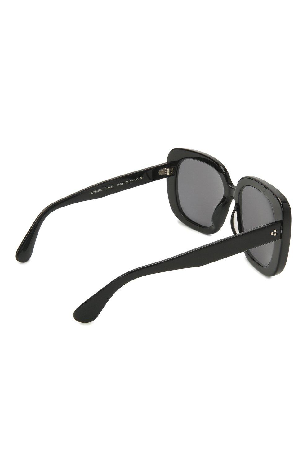 Женские солнцезащитные очки OLIVER PEOPLES черного цвета, арт. 5428SU-100581 | Фото 4