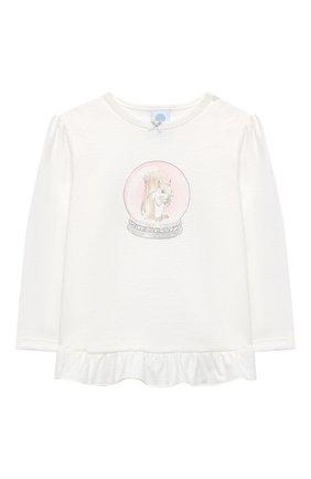 Детский хлопковая пижама SANETTA белого цвета, арт. 221560 | Фото 2