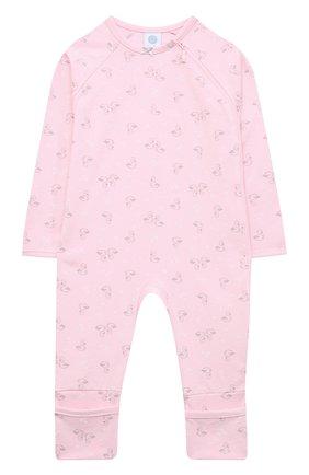 Детский хлопковый комбинезон SANETTA розового цвета, арт. 221563 | Фото 1