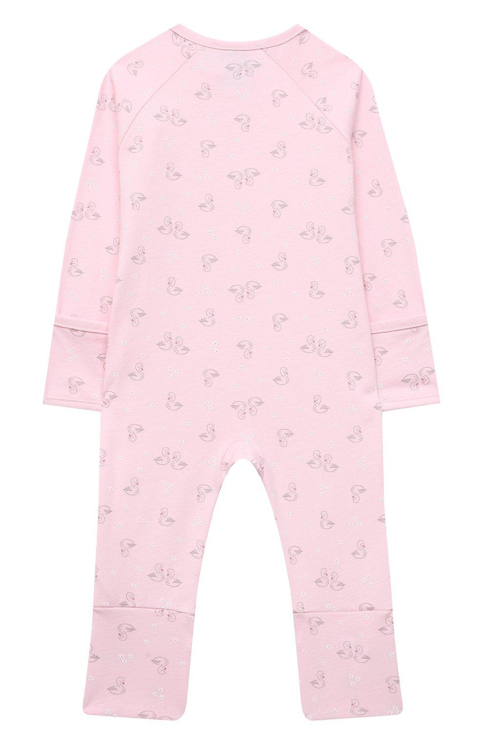 Детский хлопковый комбинезон SANETTA розового цвета, арт. 221563 | Фото 2