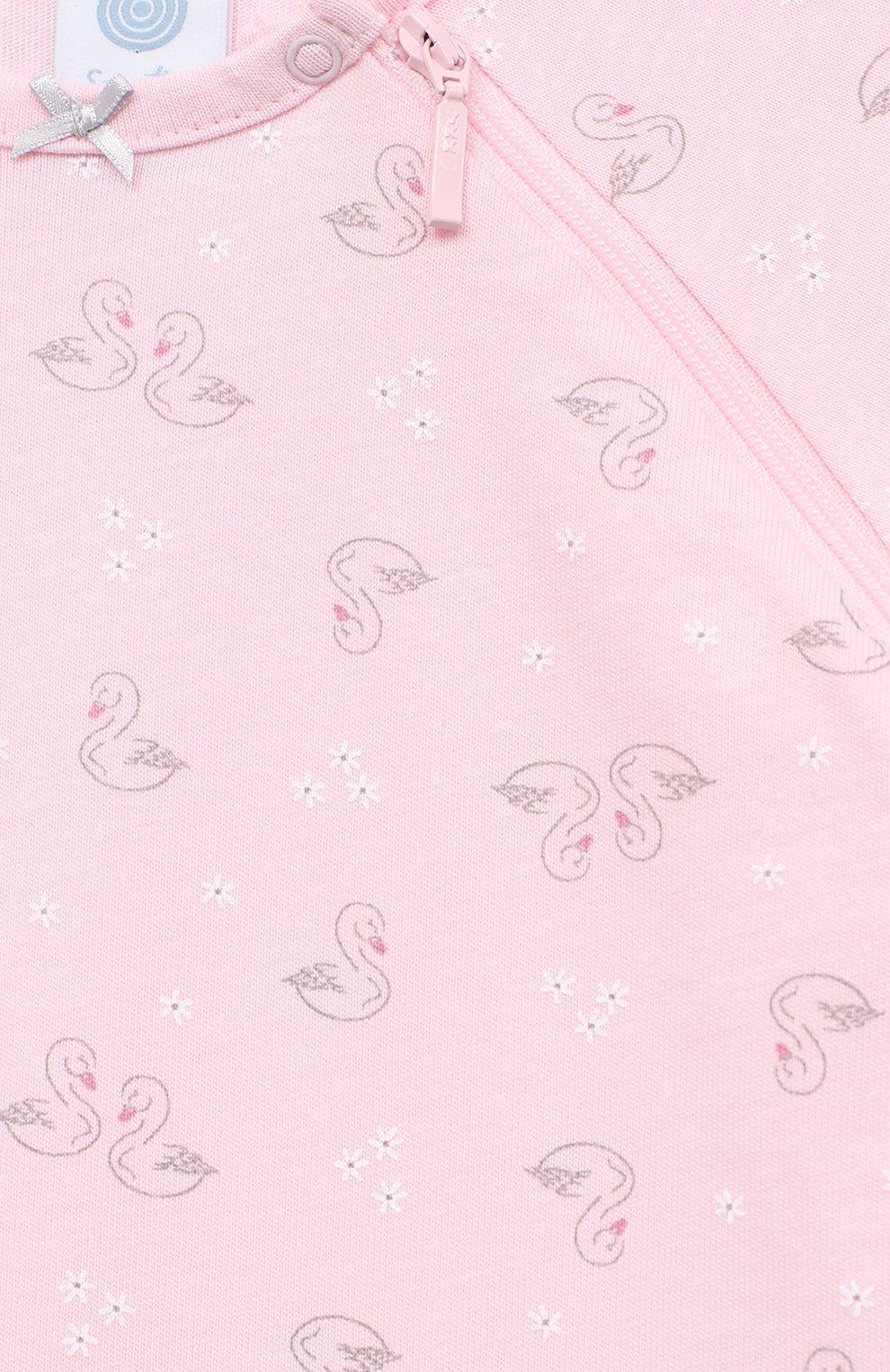 Детский хлопковый комбинезон SANETTA розового цвета, арт. 221563 | Фото 3