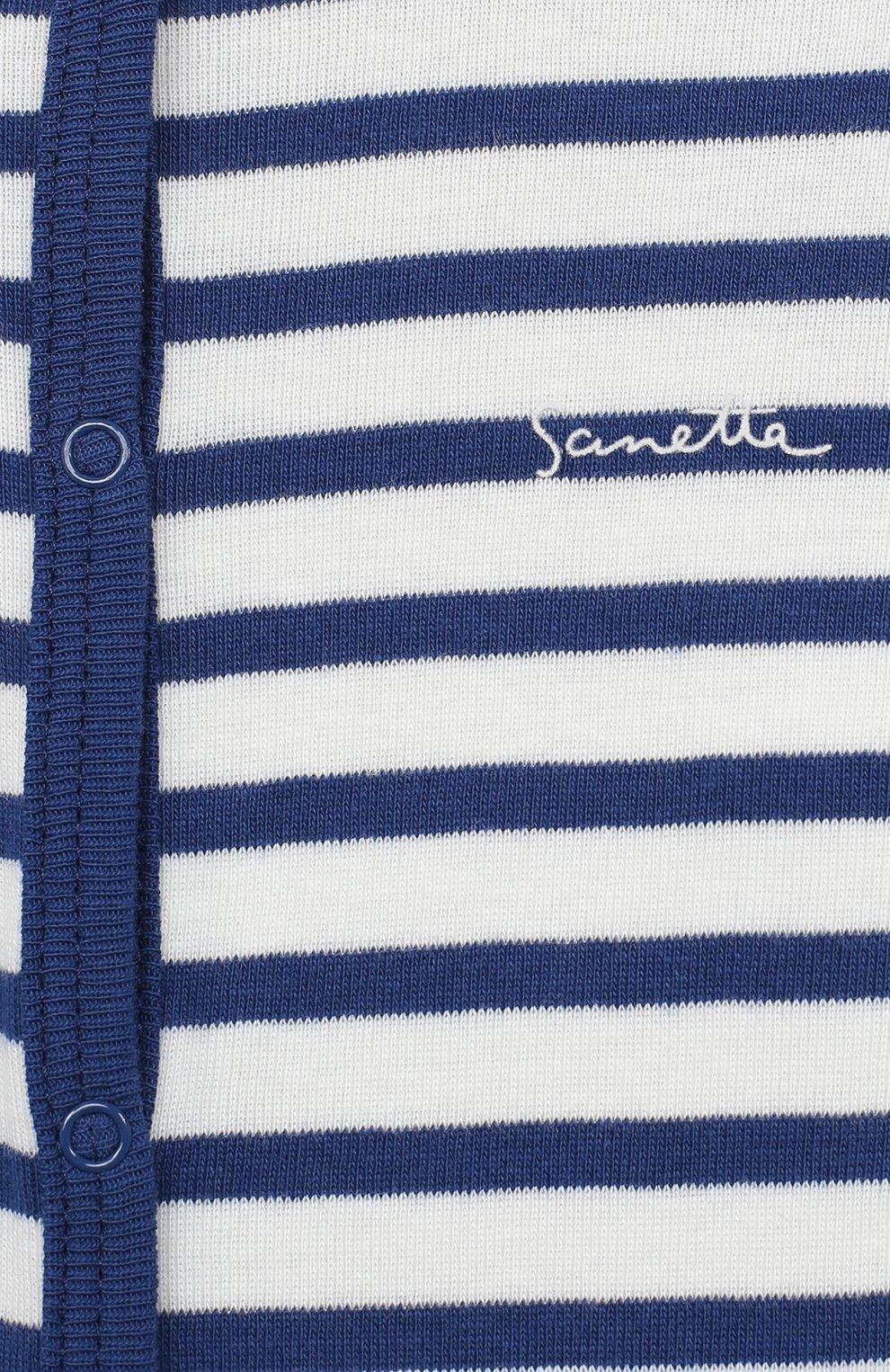 Детский хлопковый комбинезон SANETTA синего цвета, арт. 221553 | Фото 3