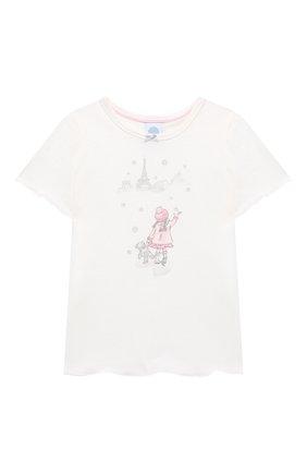 Детская хлопковая пижама SANETTA белого цвета, арт. 232492 | Фото 2