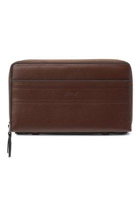 Мужской кожаный футляр для документов BRIONI темно-коричневого цвета, арт. 0HTB0L/P9721 | Фото 1
