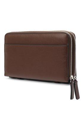 Мужской кожаный футляр для документов BRIONI темно-коричневого цвета, арт. 0HTB0L/P9721 | Фото 2