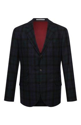 Мужской пиджак из шерсти и шелка BRUNELLO CUCINELLI разноцветного цвета, арт. MQ4107BWD | Фото 1