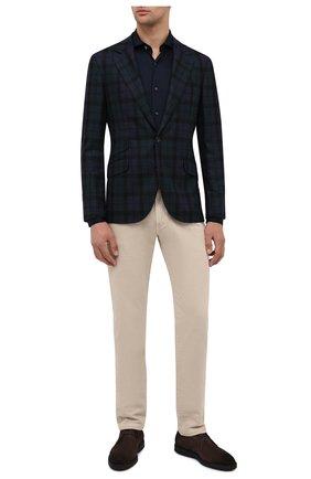 Мужской пиджак из шерсти и шелка BRUNELLO CUCINELLI разноцветного цвета, арт. MQ4107BWD | Фото 2