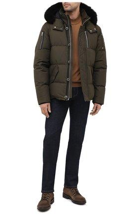 Мужская пуховая куртка 3q с меховой отделкой MOOSE KNUCKLES хаки цвета, арт. MK2228M3Q | Фото 2