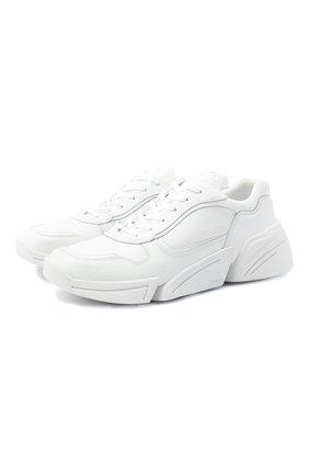 Мужские кожаные кроссовки KENZO белого цвета, арт. FA65SN451L50 | Фото 1