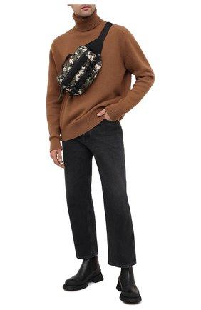 Мужская текстильная поясная сумка argens MONCLER хаки цвета, арт. F2-09A-5M703-00-02SKW | Фото 2