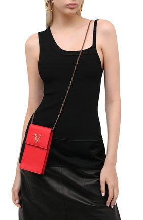 Мужского кожаный чехол virtus для iphone VERSACE красного цвета, арт. DP8H670V/DVT2 | Фото 2