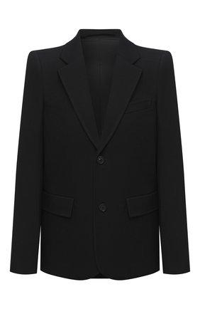 Женский шерстяной жакет BALENCIAGA черного цвета, арт. 623044/TIT17 | Фото 1
