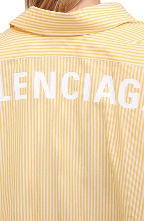 Женская хлопковая рубашка BALENCIAGA желтого цвета, арт. 622050/TYB19 | Фото 6