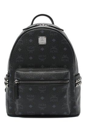 Женский рюкзак stark small MCM черного цвета, арт. MMK AAVE15 | Фото 1 (Размер: mini; Материал: Экокожа, Текстиль; Стили: Кэжуэл)
