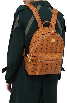 Женский рюкзак stark small MCM коричневого цвета, арт. MMK AAVE15 | Фото 2