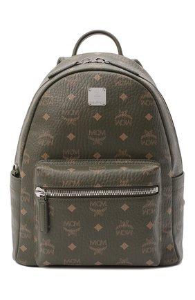 Женский рюкзак stark small MCM хаки цвета, арт. MMK AAVE17 | Фото 1
