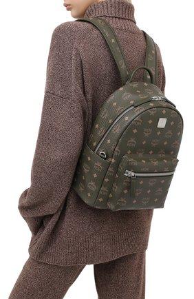 Женский рюкзак stark small MCM хаки цвета, арт. MMK AAVE17 | Фото 2