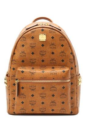 Женский рюкзак stark medium MCM коричневого цвета, арт. MMK AAVE32 | Фото 1
