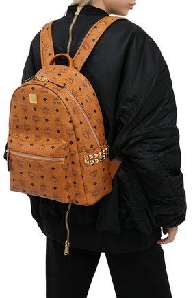 Женский рюкзак stark medium MCM коричневого цвета, арт. MMK AAVE32 | Фото 2